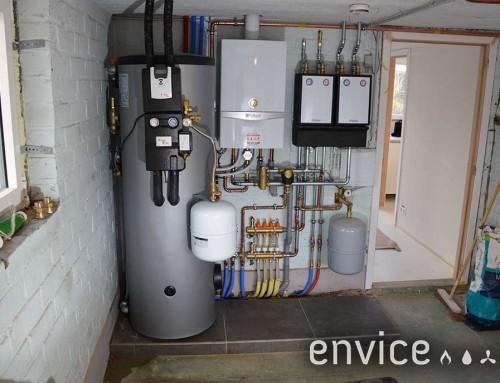Zonneboiler 300L + Vaillant ecoTEC te Oudenaarde